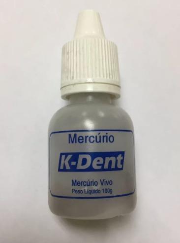 Mercurio Vivo Líquido Metálico Azougue 100g Ouro E Dentista