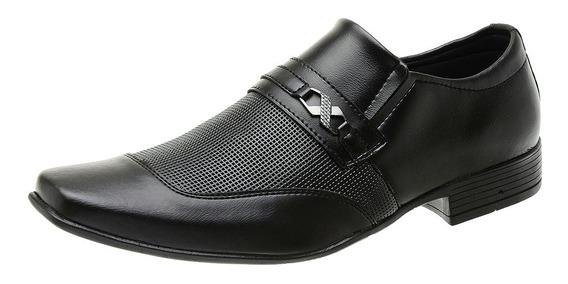 Sapato Social Bico Fino Masculino Detalhes Fosco Outfit