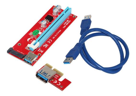 Ver007s 0.6m Pci-e 1x A 16x Riser Card Extender Adaptador