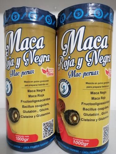 2 Maca Roja Y Negra 2000 Gramos - kg a $18