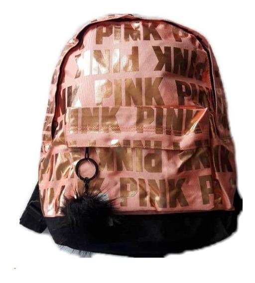 Bolso Morral Cartera Juvenil Dama Moda Pink Victoria Secret