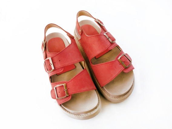 Sandalias Zapatos Suecos Plataforma Mujer Cuero Birken
