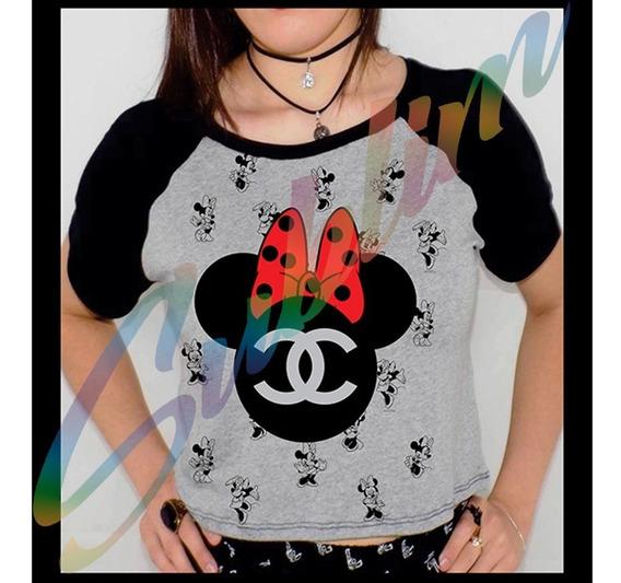 Camiseta Personalizada Minnie Raglan