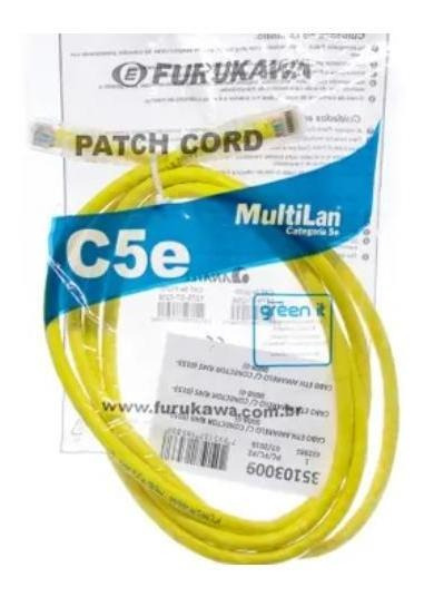 Patch Cord Furukawa Multilan Cat5e 1,5mt Amarelo 35103802