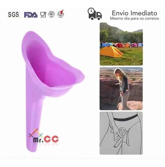 1un Urinol Feminino Higienico Lavavel Funil Fazer Xixi De Pe