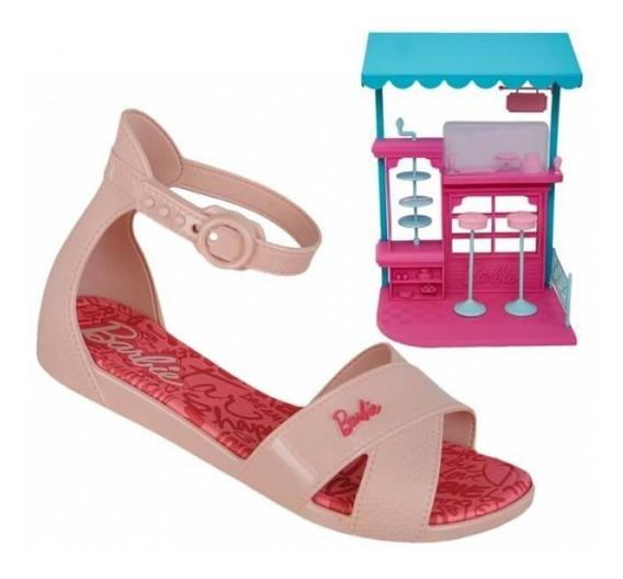 Sandália Barbie Confeitaria Grendene Kids 21921 - Rosa