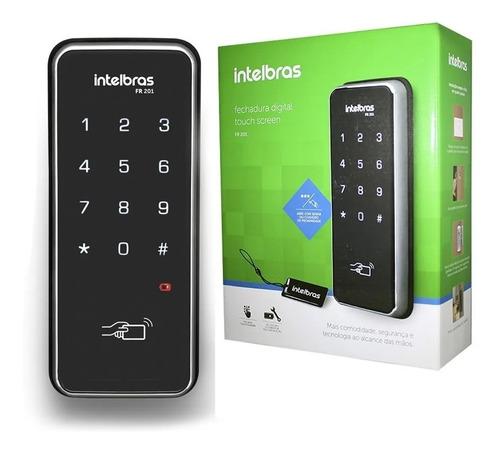 Fechadura Digital Intelbras Fr 201 Senha E Cartão  Segurança
