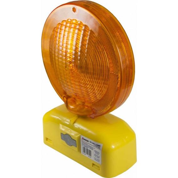 Lampara Destellos Amarilla Solar 4 Baterias Silverline