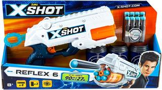 Pistola X-shot Reflex 6con 8 Dardos 20mts Original Zuru Prom