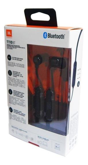 Fone De Ouvido Original Jbl T110bt Bluetooth Preto - T110 Bt