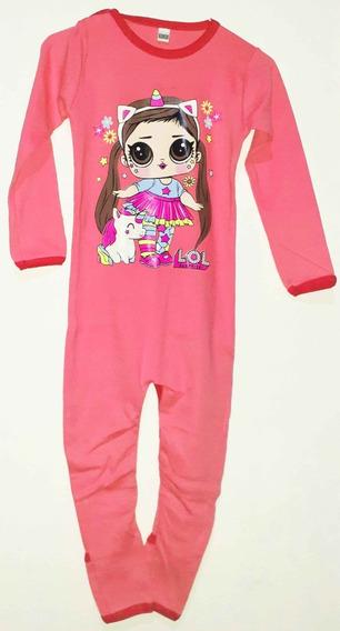 Enterizo Pijama Con Pies T 1,4,5 ,6, 7 Niñas Rosa-fucsia