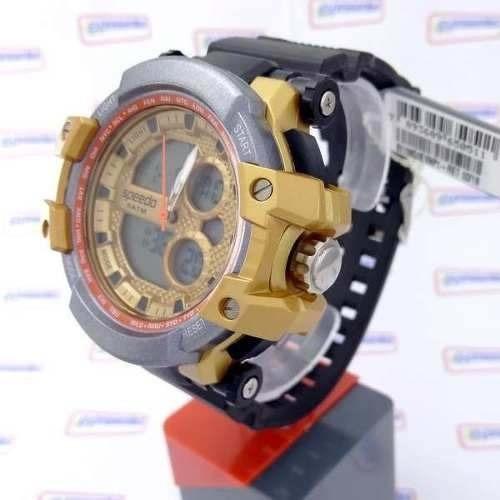 Relogio Speedo 81108g0evnp Wr50 Luz Crono Anadigi 56mm