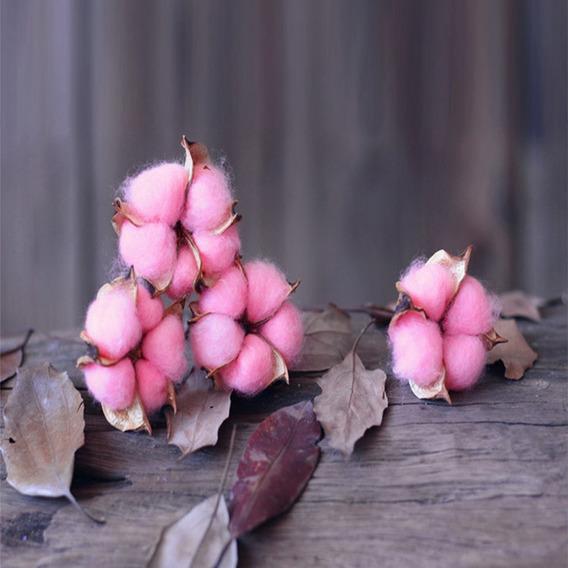 1 Ramo Elegante Colorido Algodão Flor Artificial Flor Casa