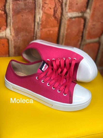 Tênis Feminino Moleca Colorido 5667.311 - Lona Premium