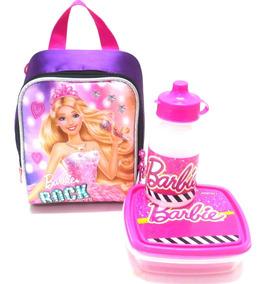 Lancheira Térmica Barbie Rock Royals Roxa Sestini C/ Alças