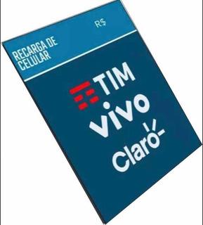 Recarga De Celular 20 Reais (vivo, Tim, Oi, Claro)