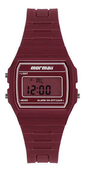 Relógio Infantil Digital Vermelho Mormaii Quadrado Original