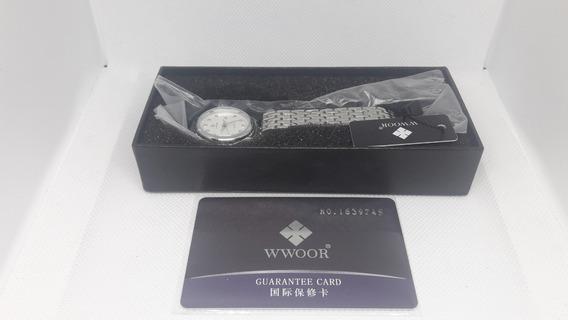 Relógio Feminino Wwoor 8824b Quartz Original + Caixa