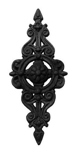 Imagem 1 de 1 de Florão Pequeno Ornamento Em Ferro Fundido Decoração 36x16cm