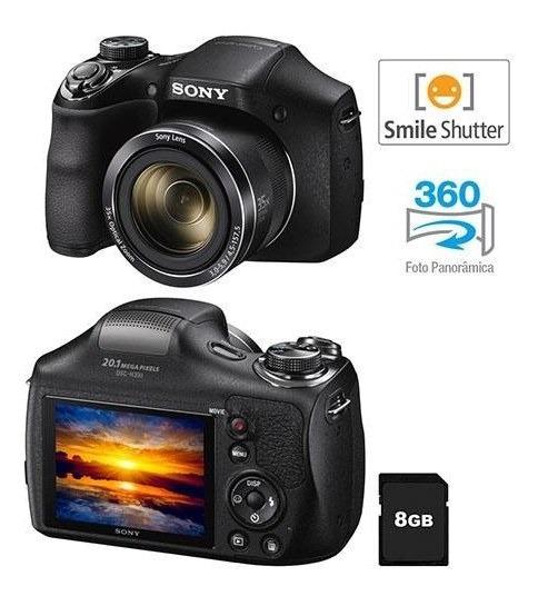 Câmera Digital Sony Cyber-shot Dsc-h300 Preta - 20.1 Mp