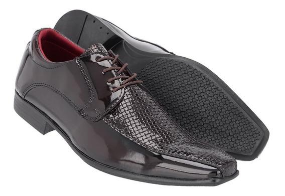 Sapato Social Masculino Em Verniz Ref:1004