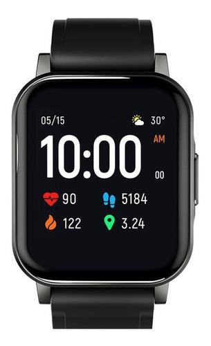 "Smartwatch Haylou Smart Watch 2 1.28"" malla  black de  silicona LS02"