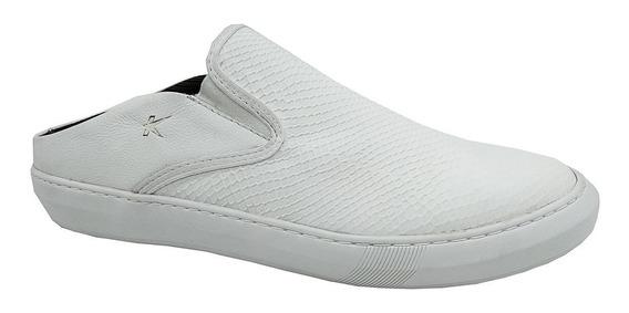 Calçado Sapatênis Mule Masculino Em Couro Jeans Kéffor 16703