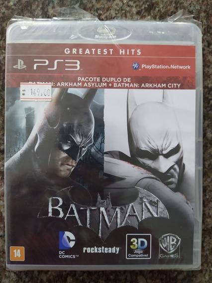 Batman Arkham Asylum+batman Arkham City Mídia Física Lacrado