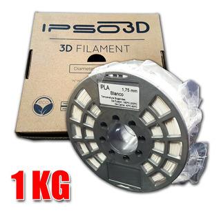 Filamento Pla Blanco Para Impresoras 3d Printer 1,75mm 1kg 1 Kilo