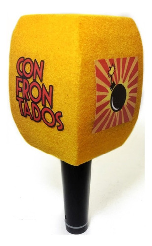 Capuchón Para Micrófono Extra Grande Gamuzado + Logo