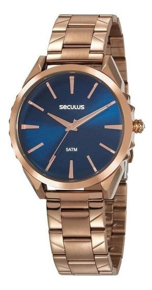 Relógio Seculus Feminino 20614lpsvrs2 Spikes Rosê