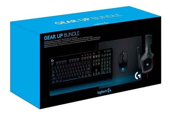 Kit Gamer Logitech Gear Up Teclado +mouse +headset +mousepad