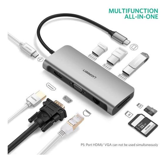 Adaptador Thunderbolt 3 Hub Usb Rj45 Hdmi Vga Macbook Pro