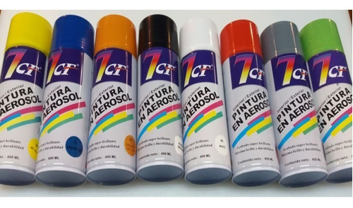 Imagen 1 de 4 de Spray Pintura En Aerosol Interior Exterior Colores Metalicos