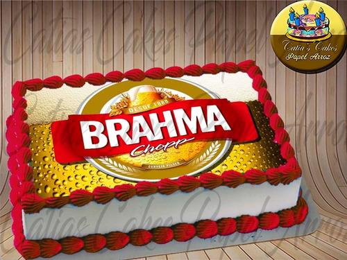 Brahma Cerveja Papel De Arroz A4 Para Bolo E Torta Mercado Livre