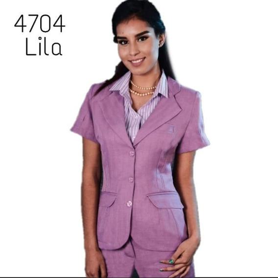 Saco Pantalón Mujer Uniforme Secretarial 4704 Lila