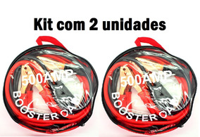 2 Cabos Chupeta 500 Amper P/ Partida Carro Moto Baterias