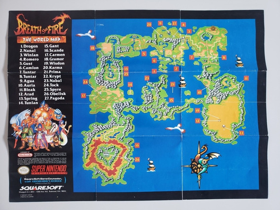 Mapa Breath Of Fire Original Snes