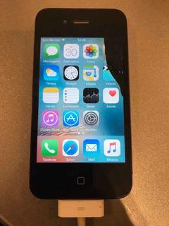 Celular iPhone 4s 64gb Ótimo Estado, Exceto Tela - Vivo