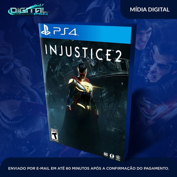 Injustice 2 Ps4 Psn Jogo Digital Envio Pronta Entrega