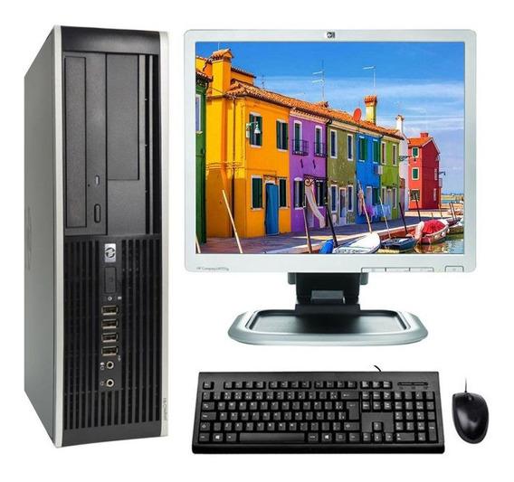 Kit Cpu Hp Elite 8100 I5 4gb Ssd 120gb Vídeo 2gb Monitor 17