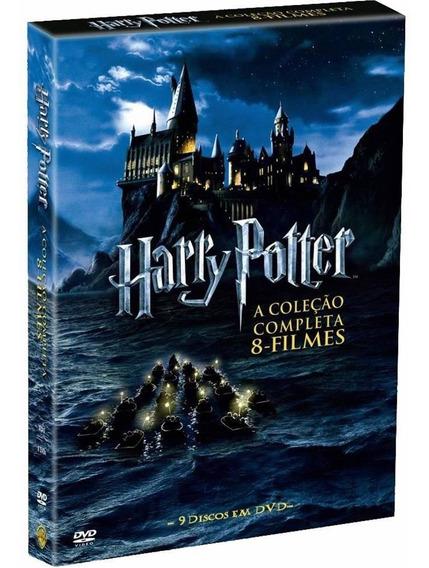 Box Harry Potter - Coleção 8 Filmes 9 Dvds - Digipak Lacrado