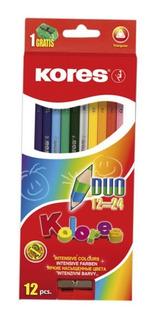 Colores Kores 12 Creyones Incluye Iva