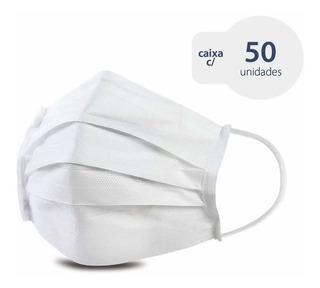 Máscara Cirúrgica Descartável Tnt 40 Elástico E Clipe Nasal