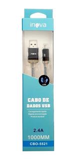 Cabo Usb Celular V8 Micro Usb 2.4a Atacado Kit C/ 10 Peças