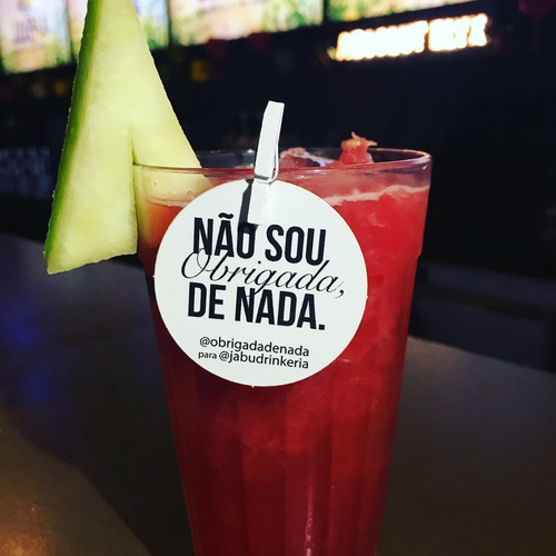 Imagem 1 de 10 de 100 Tag Personalizadas Bebidas Drink