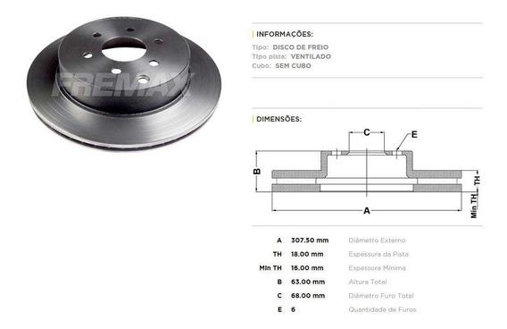 Disco De Freio Traseiro Nissan Pathfinder 4.0 - Marca Fremax