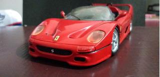 Miniatura Ferrari F50 Vermelho Bburago 1/24