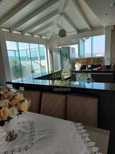 Cobertura Com 3 Dormitórios À Venda, 110 M² Por R$ 610.000,00 - Vila Silveira - Guarulhos/sp - Co0005