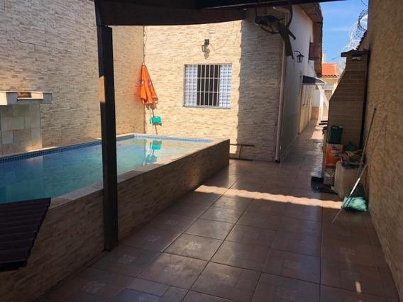 Linda Casa De 2 Dorms Com Piscina - Mongaguá 1349